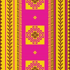 South american fabric ornamental pattern