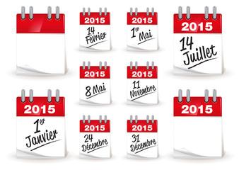 calendrier 2015 / noel / fêtes