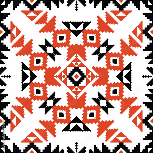 Tribal ornament in red and black - 70506589