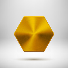 Gold Abstract polygon Button Template