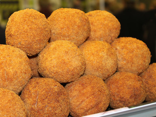 A Display of Freshly Made Tasty Scotch Eggs.
