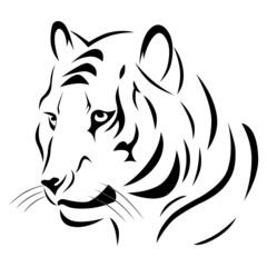 Tatouage Tigre Tribal