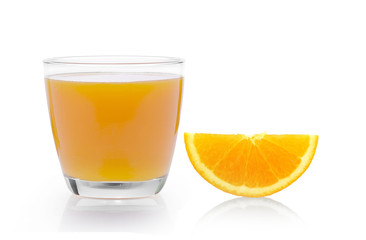 Orange juice. Isolated on white background