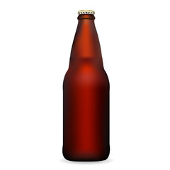 Illustration of Glass Beer Bottle with cap