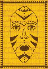 golden african mask