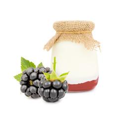 Blackberry yogurt