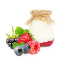 Forest fruit yogurt