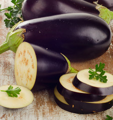 Eggplants with fresh  herbs