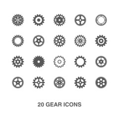 Gear icons set.