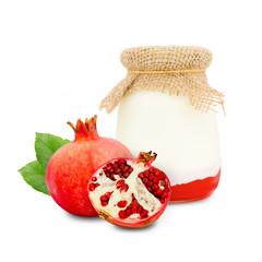Pomegranate yogurt