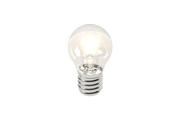Light Bulb 3D White Background