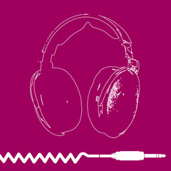 Headphones Outline Design vector