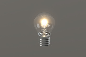 Light Bulb / 3D / White Background
