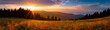 Leinwandbild Motiv Panoramic view of the sunrise in the Tatra mountains
