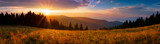 Fototapety Panoramic view of the sunrise in the Tatra mountains