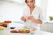 Woman cooking homemade macarons