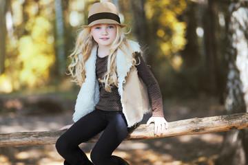 Stylish teen girl, blonde