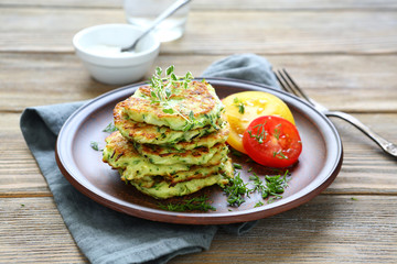 stack of pancakes from vegetable marrows