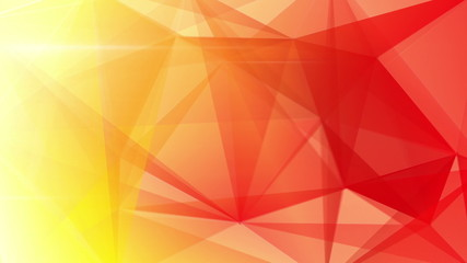 abstract triangle geometrical red background loop