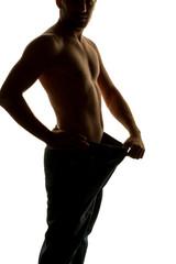 Mann nach erfolgreicher Diät