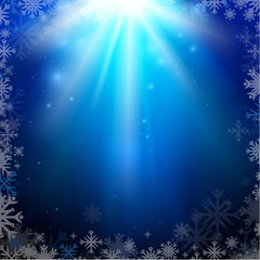 Abstract holiday Christmas blue background