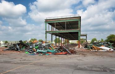 demolition of old industrial site