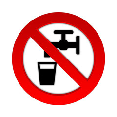 no drinking water