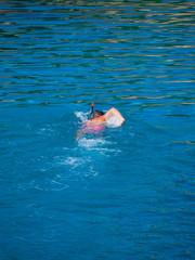 Man snorkeling in the sea