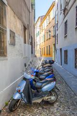 cobbled street, padova