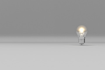 Light Bulb / Textspace / Gray