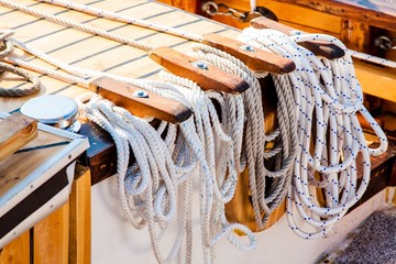 tied up - nautical rope