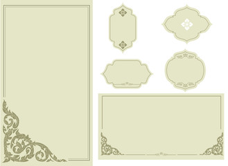 Thai elegant art frame set 2.vector illustration