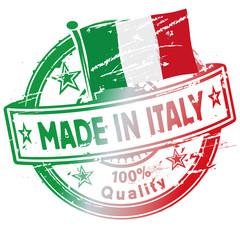 Stempel gemacht in Italien