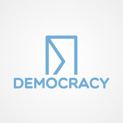Democracy concept illustration