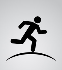 runnig man icon