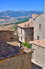 View of Guardia Perticara. Basilicata. Italy.