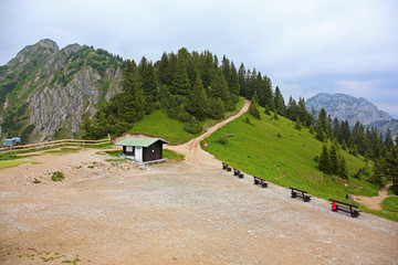 Idyllic scenery of Bavarian Alps in Germany