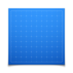 Blue isolated square grid with shadow