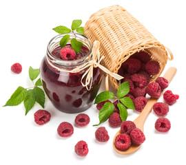 jam made from fresh natural raspberry