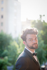 handsome hipster modern elegant man