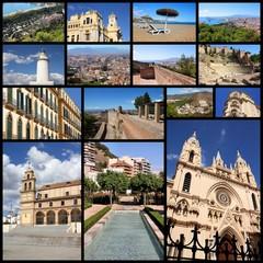 Malaga - travel photo collage
