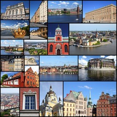 Stockholm photos - travel photo collage