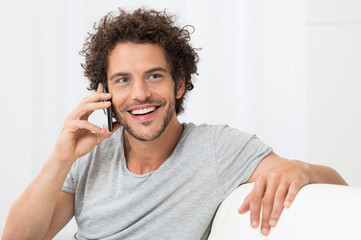 Young Man Talking On Cellphone
