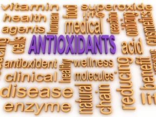 3d image Antioxidants concept word cloud background