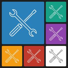 spanner & screwdriver icon