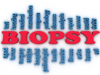 3d imagen Biopsy concept word cloud background