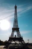 Fototapeta the Eiffel Tower illuminated by the sun
