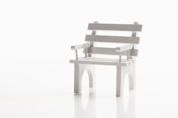 Weiß Stuhl auf weißem Hintergrund,close-up
