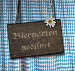 Biergarten - Brett - Blume