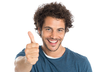 Happy Man Showing Thumb Up